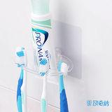 (任選)【歐奇納 OHKINA】隨手貼系列 多用途牙刷架/香皂架重複貼掛勾-1入裝
