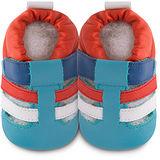 英國 shooshoos 安全無毒真皮手工鞋/學步鞋/嬰兒鞋 藍橘涼鞋 102068 (公司貨)