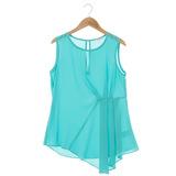 Jessica RED 無袖設計感上衣-藍