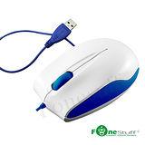 [福利品] Fonestuff S320 繽紛色彩BlueEfficiency有線滑鼠 (海軍藍)