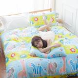 LUST寢具 【新生活eazy系列-晴空動物】雙人加大6X6.2-/床包/枕套/薄被套6x7尺組、台灣製