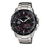CASIO EDIFICE 雙重感應雙顯賽車時尚多功能腕錶-黑/47mm/ERA-200DB-1A