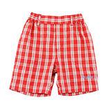 【愛的世界】MYBABY 快樂的朋友系列百搭紅格紋五分褲/4~8歲-中國製-