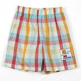 【愛的世界】MYBABY 電影嘉年華系列鬆緊帶格紋純棉短褲/1~2歲-台灣製-