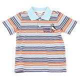 【愛的世界】LOVEWORLD 海鸚鵡系列橫紋短袖POLO衫/2~4歲-台灣製-