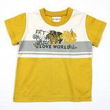 【愛的世界】LOVEWORLD 河馬系列純棉圓領短袖T恤/10~12歲-台灣製-
