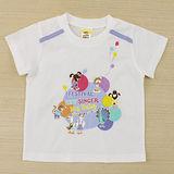 【愛的世界】MYBABY 歡唱時光系列純棉圓領短袖T恤-白色/1~2歲-台灣製-