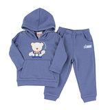 【愛的世界】MYBABY 小熊兄弟系列保暖刷毛彈性套裝/2~4歲-中國製-