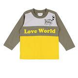 【愛的世界】LOVEWORLD 小浣熊系列純棉圓領長袖上衣/2~4歲-台灣製-