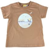 【愛的世界】MYBABY 賽艇系列純棉圓領短袖T恤/2~4歲-台灣製-