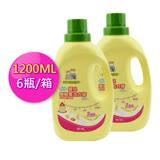 【愛的世界】MYBABY 嬰兒雙酵素洗衣精(1200ml*6瓶/箱)-台灣製-