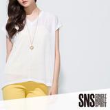 SNS 俏麗叛逆透光上衣(共2色)-白色