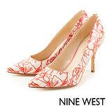 NINE WEST--亮眼初夏尖頭高跟鞋--熱情紅