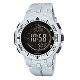 CASIO PROTREK 太陽能液晶羅盤運動腕錶-47mm/PRG-300-7