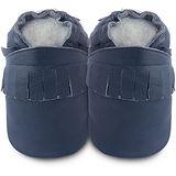 英國 shooshoos 安全無毒真皮手工鞋/學步鞋/嬰兒鞋 寶藍流蘇 102226 (公司貨)