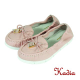 Kadia.蝴蝶亮鑽方塊牛皮包鞋(粉色)