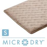 【MICRODRY時尚地墊】3D波紋記憶綿-(亞麻色S)
