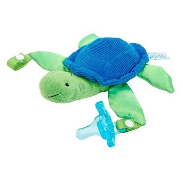 DR.BROWN 奶嘴娃娃+早產/新生兒專用矽膠安撫奶嘴 0-6月烏龜 1組