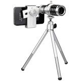 12倍長焦手機通用型單筒望遠鏡頭(附三腳立架)
