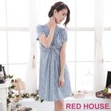 RED HOUSE-蕾赫斯-V領修身洋裝(藍色)