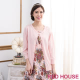 RED HOUSE-蕾赫斯-純色圓領針織小外套(粉色)