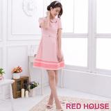 RED HOUSE-蕾赫斯-蕾絲小花領洋裝(粉色)