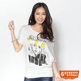 5th STREET 流行印花短袖T恤-女-白色
