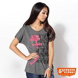 5th STREET 女人印花短袖T恤-女-麻灰