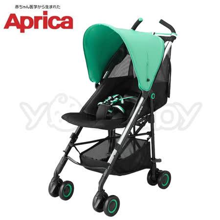 愛普力卡 Aprica NEW STICK 挑高型單向嬰幼兒手推車 - 綠風情