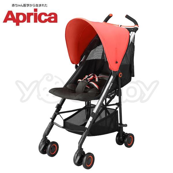 愛普力卡 Aprica NEW STICK 挑高型單向嬰幼兒手推車 - 桔子風