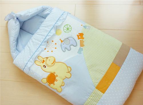 GMP BABY RODY跳跳馬柔軟抗蹣菌棉幼童睡袋組~藍色1組