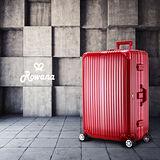 Rowana 星鑽冰糖金屬平框避震行李箱 29吋(俏麗紅)