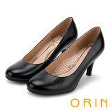 ORIN 簡約時尚 OL典雅素面高跟鞋-黑色