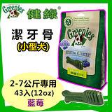 【88折】美國Greenies 健綠潔牙骨 小型犬2-7公斤專用 /藍莓/ (12oz/43入) 寵物飼料 牙齒保健磨牙