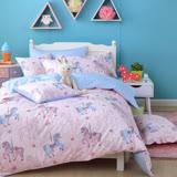 OLIVIA 《夢幻樂園 粉》 加大雙人兩用被套床包四件組 品牌童趣系列