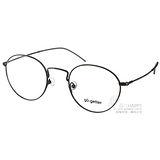 Go-Getter光學眼鏡 文青風熱銷圓框款(黑) #GO2020 C01