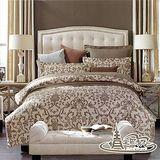 【情定巴黎】尊爵100%精梳純棉單人三件式床包被套組
