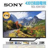 【SONY】43型FHD高畫質液晶電視 KDL-43W750D,★贈送★3M擦拭布3入組