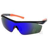 OUTDO太陽眼鏡 防爆鏡片時尚水銀鏡面款(黑-橘) #TR9906 C1