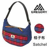 【美國Gregory】Satchel日系休閒斜肩包-格子布-M