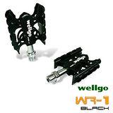 《WELLGO WR-1》蜘蛛專業培林腳踏(黑)