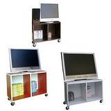 環球-兩格耐重型電視櫃(附四個工業輪)三色可選