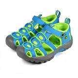 (中大童) LOTTO 護趾排水運動涼鞋 蘋果綠 鞋全家福