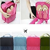 【iSFun】旅行配備*三層防水收納鞋袋/桃