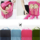 【iSFun】旅行配備*三層防水收納鞋袋/深藍