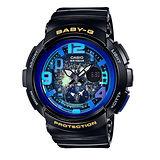 CASIO 卡西歐 Baby-G 就是愛旅行雙時區時尚女用腕錶-BGA-190GL-1B