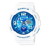 CASIO 卡西歐 Baby-G 就是愛旅行時尚雙時區運動腕錶-BGA-190GL-7B