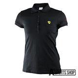 PUMA (女) 彪馬 法拉利車迷系列素色POLO衫(F) 黑-76186002
