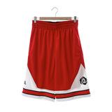Adidas(男) 運動短褲 紅白AH4043