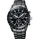 CITIZEN 光動能40週年限量計時錶-黑/40mm BL5495-56L